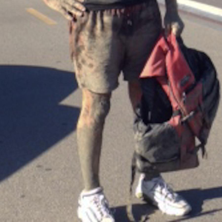 Cuts saturated in mud