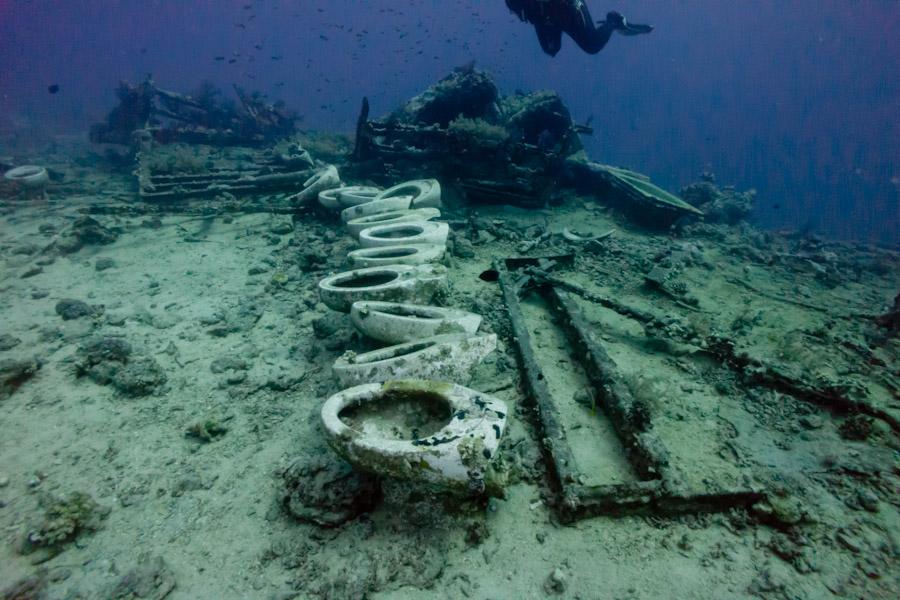 Underwater restroom, Bonaire
