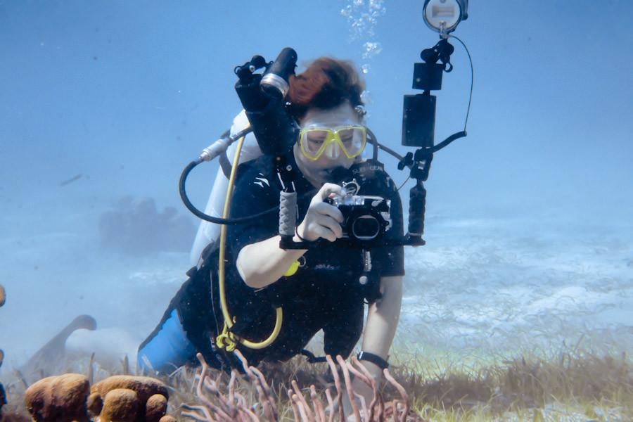 Dive buddy Michelle