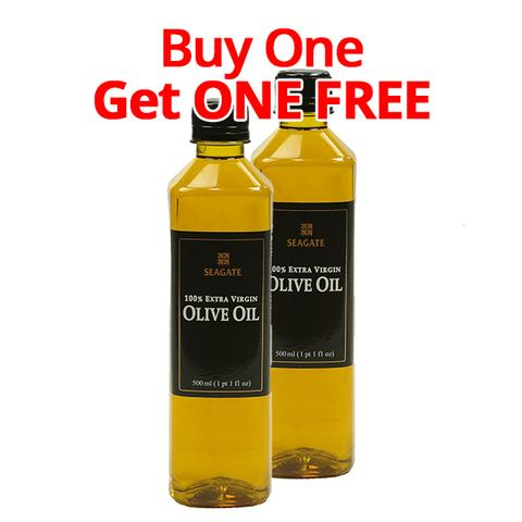 Seagate Extra Virgin Olive Oil 375 ml glass bottle vs 500 ml plastic bottle